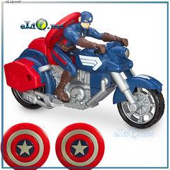 Игрушка Captain America. Капитан Америка на мотоцикле. Дисней оригинал Disney США.