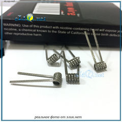 5 шт. Wotofo Triple Core Caterpillar Coil (3*28ga+32ga) 0.2 ОМа.  Kanthal A1. Намотка, спираль.