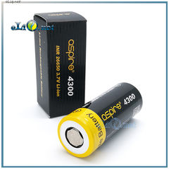 Aspire INR 26650 4300mAh 40A Flat Top Li ion Rechargeable Battery - Высокотоковый аккумулятор