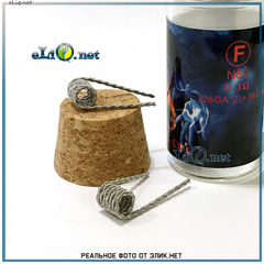 Тип F Demon Killer N80 Flame Coil 26ga*2+38ga. Твистед фьюзед клептон из нихрома