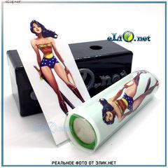 Термоусадка Чудо-женщина для аккумуляторов 18650. Wonder Woman оплетка, термоусадочная пленка