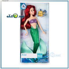 NEW 2017! Кукла русалочка Ариэль и рыбка Флаундер. Ariel Classic Doll & Flounder. Ариель принцесса классическая Disney оригинал