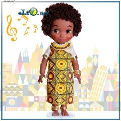 Поющая кукла малышка Кения Мой маленький мир. It's a Small World Kenya Singing Doll. Дисней оригинал США