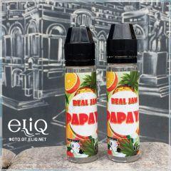 60ml REAL JAM Papaya. Жидкость для заправки электронных сигарет. Папайя с холодком