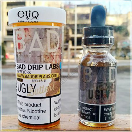 Bad Drip Ugly Butter SALT - премиум жидкость для заправки электронных сигарет. США. Тост, банан, нутелла, корица. Соль
