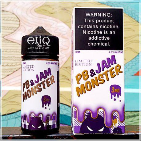 100 мл PB & Jam Monster - жидкость для заправки электронных сигарет. Джем Монстр Арахисовая паста + виноградній джем
