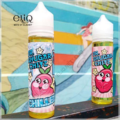 60 мл The Razz Chilled Dr. Shugar - жидкость для заправки электронных сигарет. Малина, сладкая вата, холодок
