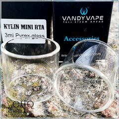 21 х 24,8 мм. Стеклянная колба для атомайзера Vandy Vape Kylin Mini RTA. Оригинал.