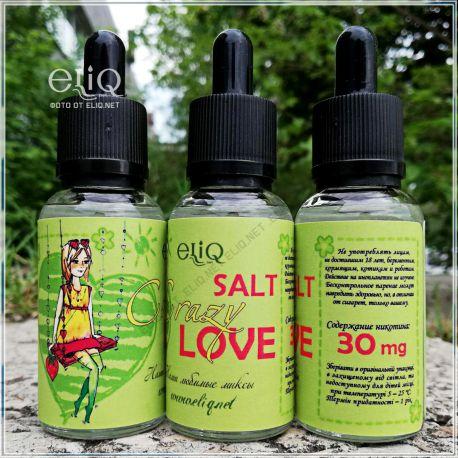 30 мл. Crazy Love SALT (eliq.net) - вейп-жидкость для заправки электронных сигарет. Клубника - банан Соль