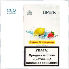 4шт JUUL Upods Лимон - Клубника - Картридж (под) для электронной сигареты, Pod-системы Джул