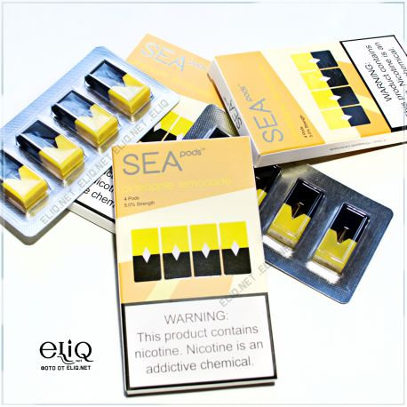 4шт JUUL SEA pods Pineapple lemonade - Картридж (под) для электронной сигареты Джул Ананасовый лимонад