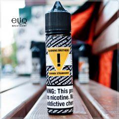 Warning Brothers Banana Strawberry - вейп-жидкость для заправки электронных сигарет Клубника с Бананом