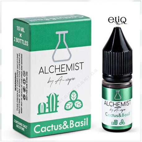 10 мл. Cactus & Basil Alchemist by A-Vape SALT - вейп-жидкость для заправки электронных сигарет. Кактус, базилик Соль