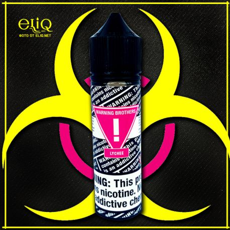 Warning Brothers Lychee - вейп-жидкость для заправки электронных сигарет Личи