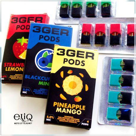 4шт Pineapple Mango 3GER JUUL POD 5% - Картридж (под) для электронной сигареты, Pod-системы Джул