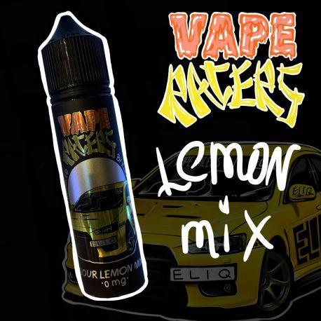 60 мл. Sour LEMON MIX Vape Racers by ELIQ - вейп-жидкость для заправки электронных сигарет. Лимон