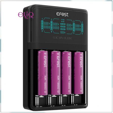 Efest LUC V4 ELITE HD LCD зарядное устройство на 4 слота. Быстрая зарядка