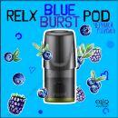 Blue Burst RELX PODs 3% 30мг заправленные картриджи (поды) черника, голубика