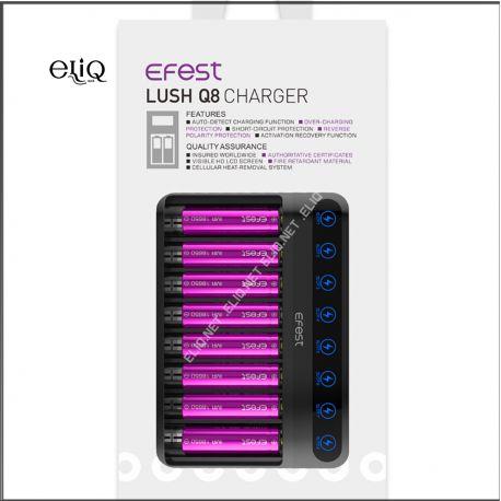 Efest LUSH Q8 / Intelligent LED Charger Интеллектуальное 8-слотовое зарядное устройство