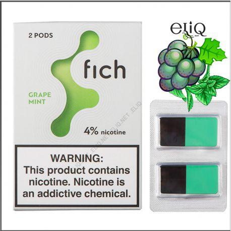 Картриджі Fich Pods Grape Mint для POD-системи Fich 4% 2 шт. (Виноград М'ята)