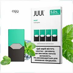 4шт JUUL POD 5% Mint - Картридж (под) для электронной сигареты, Pod-системы Джул Мята