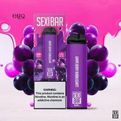 SEXIBAR 1000 Puff - Grape Berry Bubblegum Disposable мини-вейп, одноразовая электронная сигарета. Виноград