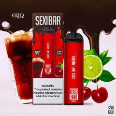 SEXIBAR 1000 Puff - Cherry Lime Cola Disposable мини-вейп, одноразовая электронная сигарета. Кола, вишня, лайм