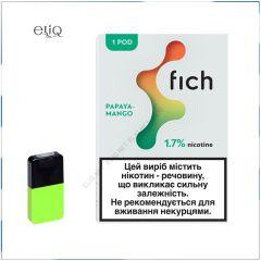 Картриджі Fich Pods Papaya Mango для POD-системи Fich 1,7% 1 шт.
