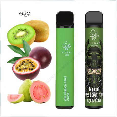Elf Bar 1500 Puff Kiwi Passion Fruit Guava одноразовая pod-система, Эльф бар Киви, маракуйя, гуава