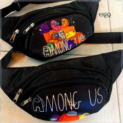 Бананка Among Us, сумка на пояс, через плечо, кошелек Амонг аз