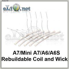 Спираль и фитиль для A7/Mini A7/A6/A6S RDA