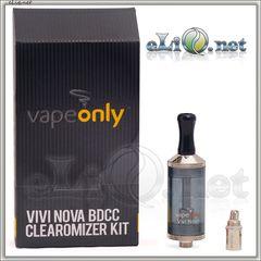 [VapeOnly] 3.5ml VIVI NOVA Glass BDCC стеклянный двуспиральный клиромайзер с нижним расположением спиралей.