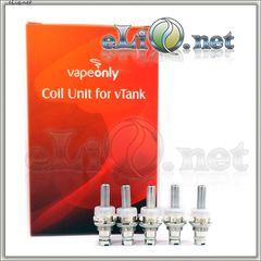 См. испаритель для vTank VapeOnly Glass BCC Клиромайзера