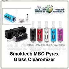 [Smoktech] MBC Purex Glass BCC стеклянный разборной клиромайзер с нижним расположением спирали.