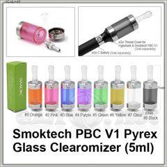 [Smoktech] PBC V1 - 5мл Purex Glass BCC стеклянный разборной клиромайзер с нижним расположением спирали.