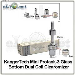 [KangerTech] Mini ProTank 3 BDCC - Glass Dual Coil - двуспиральный, стеклянный клиромайзер