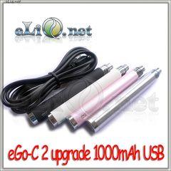 [Joyetech] Пастру eGo-C 2 1000 мАч upgrade USB battery / USB passthrough