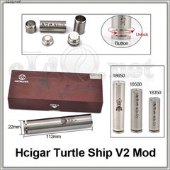 Hcigar Turtle Ship Clone V2 18350/18500/18650 Mechanical Mod - Мехмод