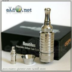 [Aspire] Nautilus BDC Stainless Steel Clearomizer (Adjustable Airflow Tank System) - Наутилус из нержавеющей стали.