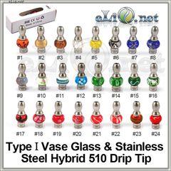 [510] Дрип-тип из нержавеющей стали и стекла в форме вазы.