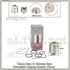 Tobeco Hobo V2 RDA - ОА для дрипа из нержавеющей стали. клон
