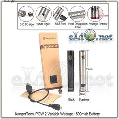 [KangerTech] IPOW 2 VW 1600mAh - вариватт с дисплеем