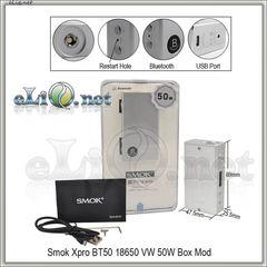Smok Xpro BT50 18650 VW Box Mod - боксмод вариватт.