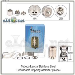 Tobeco Lancia RDA - ОА для дрипа из нержавеющей стали. клон