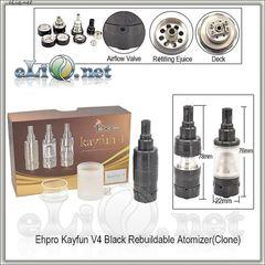 Черный Kayfun V4 RBA Rebuildable Atomizer Kit (Обслуживаемый атомайзер, клон кайфуна 4 версия) Tobeco