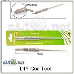 Инструмент для намотки спирали с отверточкой (Micro Coil Jig Plus)