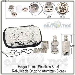 Hcigar Lancia RDA - ОА для дрипа из нержавеющей стали. клон. В красивом чехле.