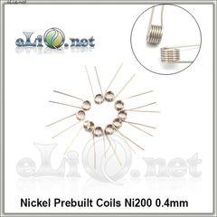 Nickel 200 (0.4mm) - готовые намотки (спирали) - 10 шт