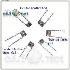 Twisted Nickel & Kanthal - готовая намотка (спираль, косичка*2)