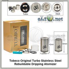 Tobeco Turbo RDA - ОА для дрипа из нержавеющей стали. оригинал. Турбо.